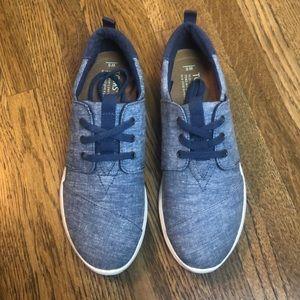 TOMS Del Rey Sneaker Blue Slub Chambray New